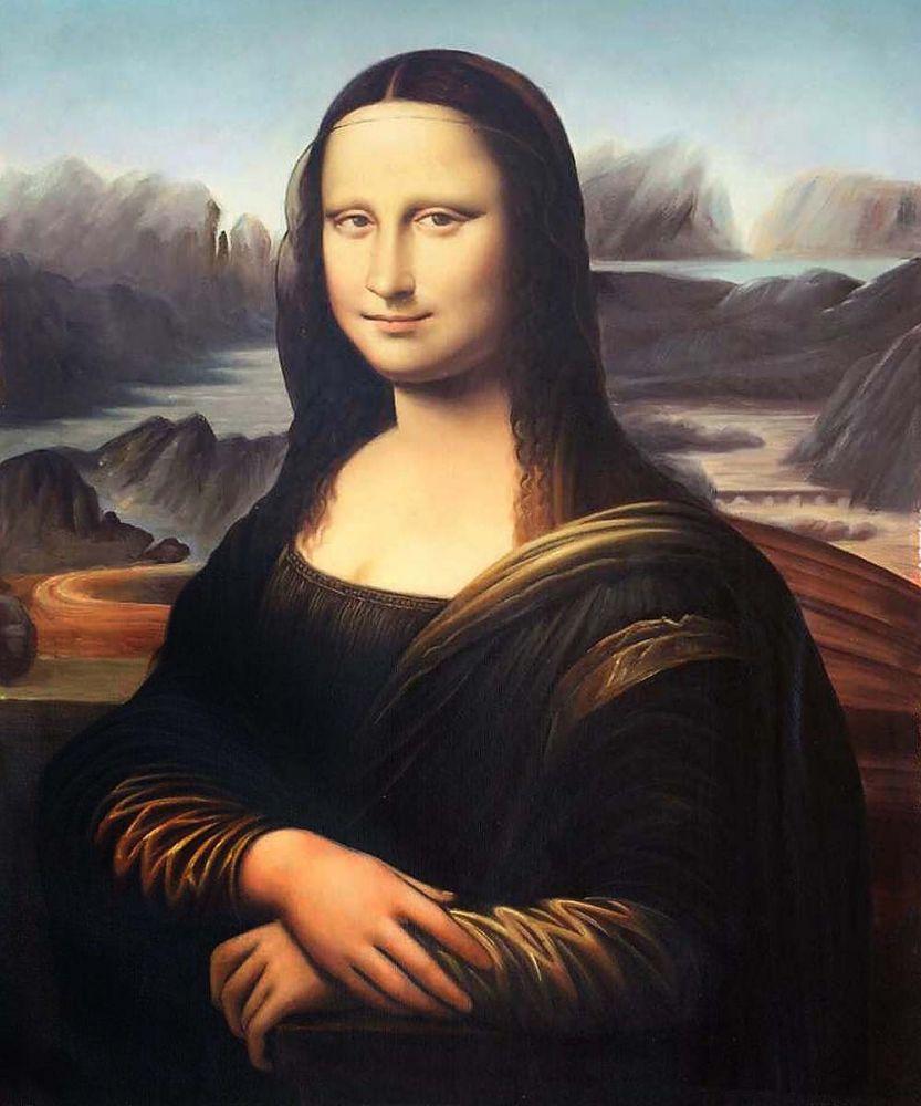 Célèbre peinture à lhuile Sexy sur toile Mona Lisa léonard de Vinci peintures Reproductions pour la décoration de bureau à la maison
