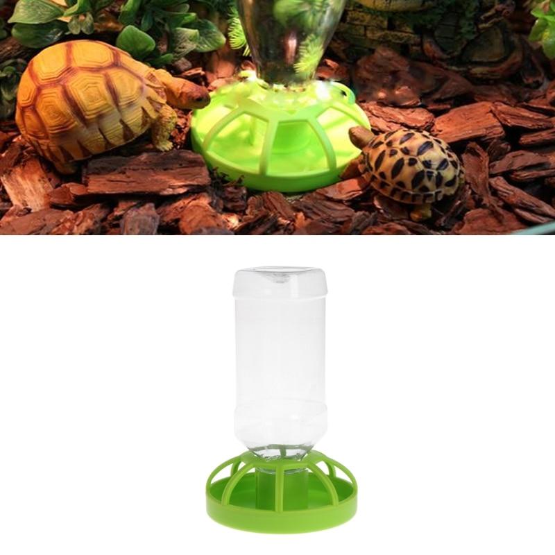 New Reptile Water Drinker Dispenser Food Bowl Lizard Feeder Round Dish Drink Bottle