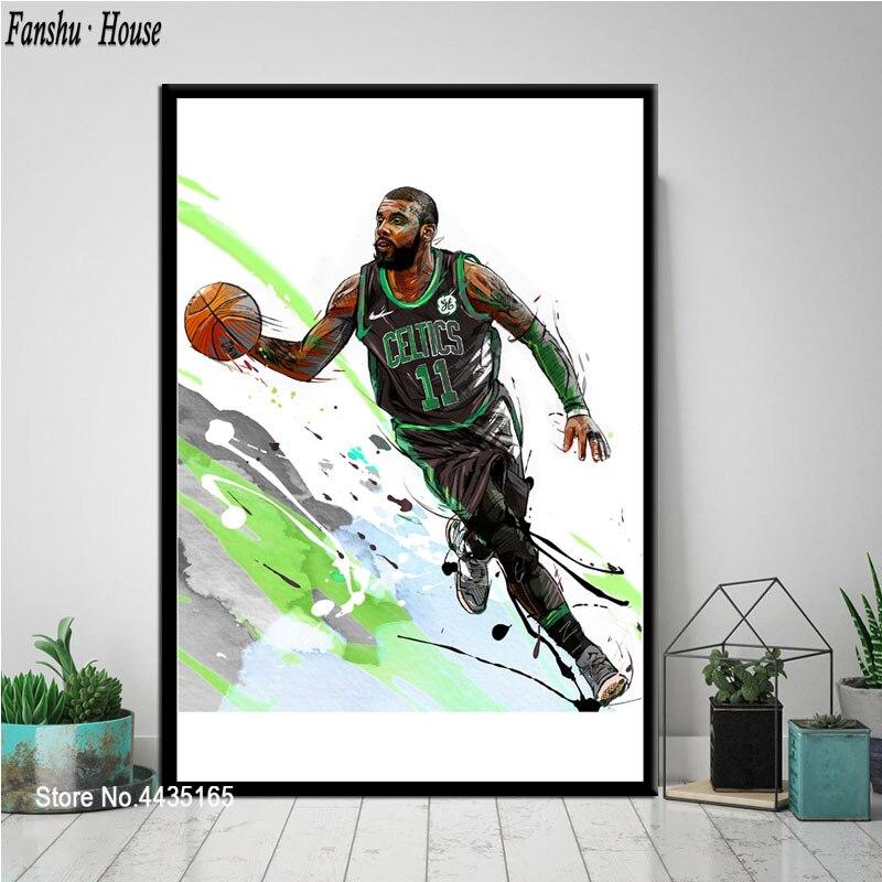 Lebron James Harden Curry Poster Kyrie Irving Jordan Kobe