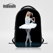 Dispalang Preppy Style Women Backpack College Student School Bookbag Female Laptop Bag Ballet Dancing Girl Ladies Travel Bagpack