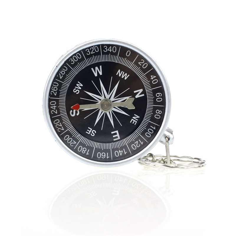 HOT SALE New  Keychain Outdoor Camping Plastic Compass Hiking Hiker Navigation  car KeyChain  YYH*  Free Shipping Vicky