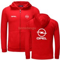 Fashion OPEL Logo Print Hoodies Men Casual Long Sleeve Womens Zipper Hoodie Sweatshirts Man Hoody Clothing