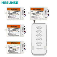 Free shipping Y-F211B 1005W 1N4 Hesunse 220V Four Ways Digital Wireless Remote Switch With 4 Receivers 110V Could Customized