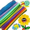 200 pçs/set chenille hastes varas coloridas crianças do jardim de infância toy diy material de artesanato criativo crianças brinquedos educativos atacado