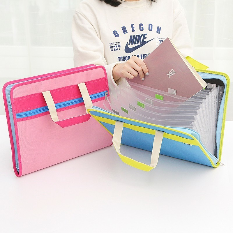 Free Shipping A4 Oxford cloth Portable handheld Document File Bag Pouch Bills Folder Card Holder Organizer Fastener Random xhorizon tm high quality robust hardshell portable handheld rotating holder impact