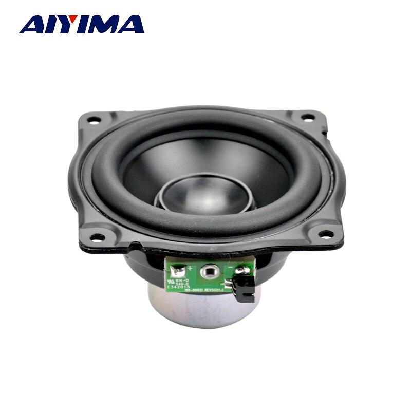 AIYIMA 3 pulgadas altavoces de Audio altavoz de gama completa 4Ohm 12,5-30 W de alta resistencia de neodimio magnético bajo luz de aluminio cuenca para AURA
