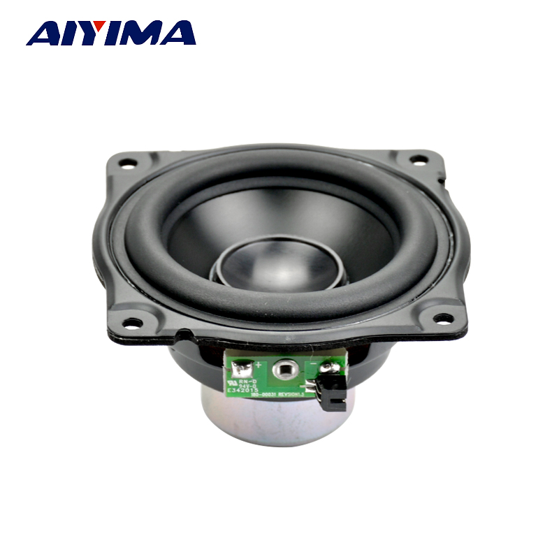 Aiyima 3Inch Audio Speakers Full Range Speaker 4Ohm 12.5-30W High Strength Neodymium Magnetic Bass Light Aluminum Basin For AURA цена 2017