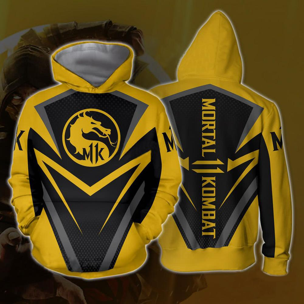 Mortal Kombat X Sub-Zero Scorpion T-shirt Cosplay Costume Men Women Zip-up Hoodies Sweatshirts Mortal Kombat Hoodies Jackets