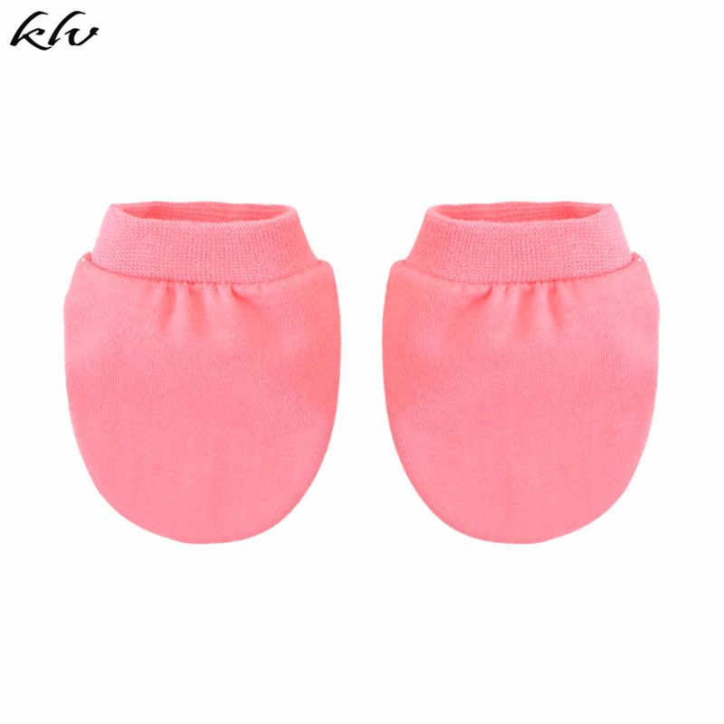 KLV Summer Thin Solid Color Baby Gloves Newborn Bathing Gifts Children Girls Boys Anti-scratch Protection Glove Soft