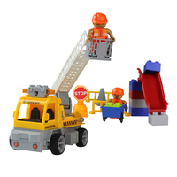 Block Track Assemble 4 Channels 1:18 Remote Comtrol Engineering Vehicle Children Kids Blocks Toys Adult Collection Decoration