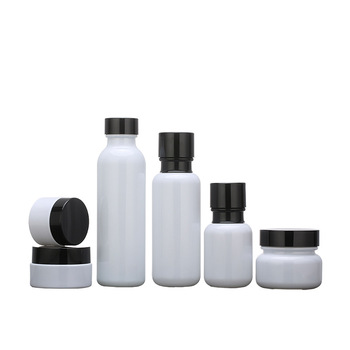 50pcs150ml 120ml 50ml pearl white essence lotion bottle screw cover drip pressure pump cosmetic packaging bottle 50-20gcream jar