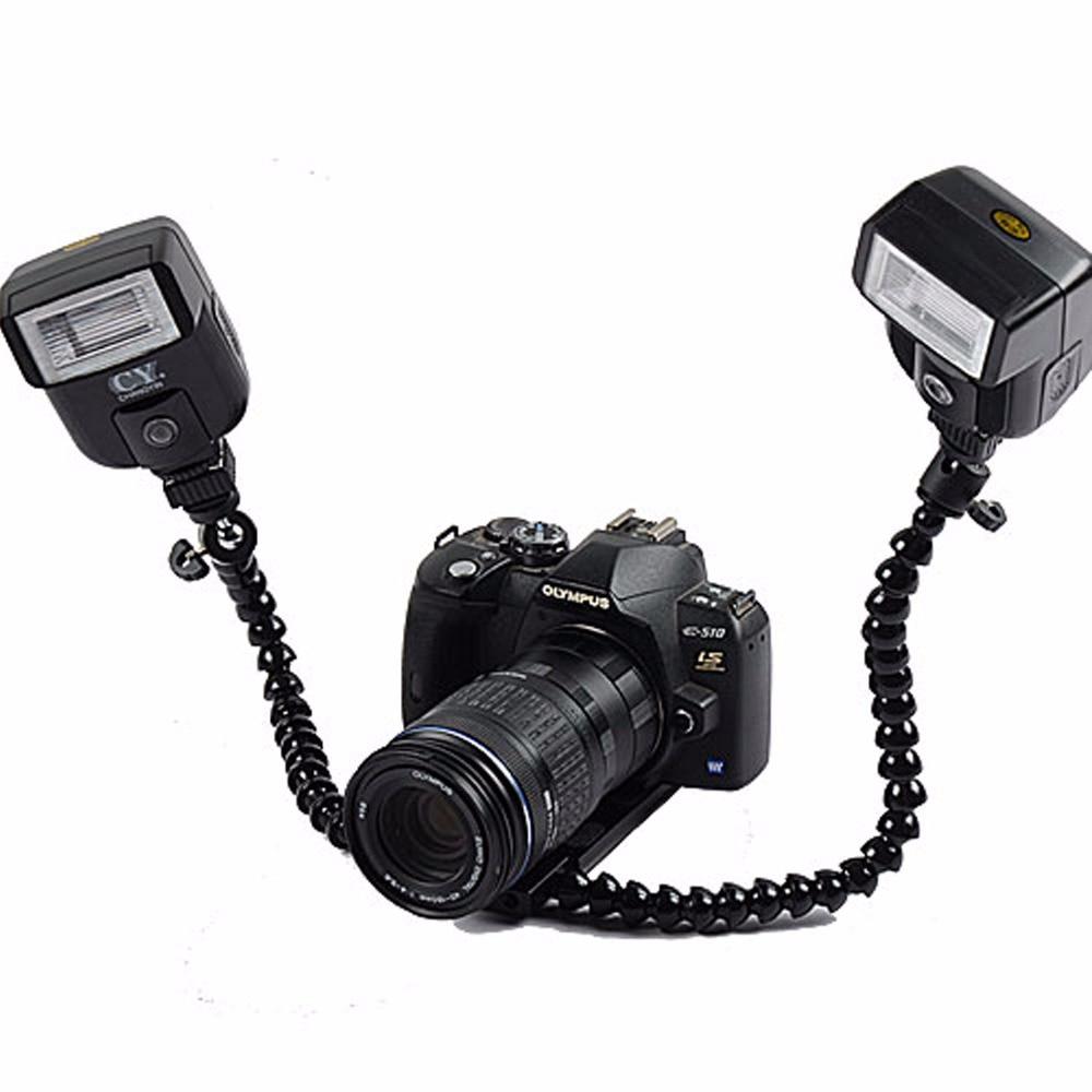 DSLRKIT Dual-arm Dual-shoe Flash Кронштейн для макросъемки для CANON NIKON PENTAX