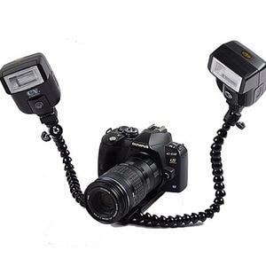 Image 2 - DSLRKIT Dual arm Dual shoe Flash Bracket for MACRO SHOT for CANON NIKON PENTAX