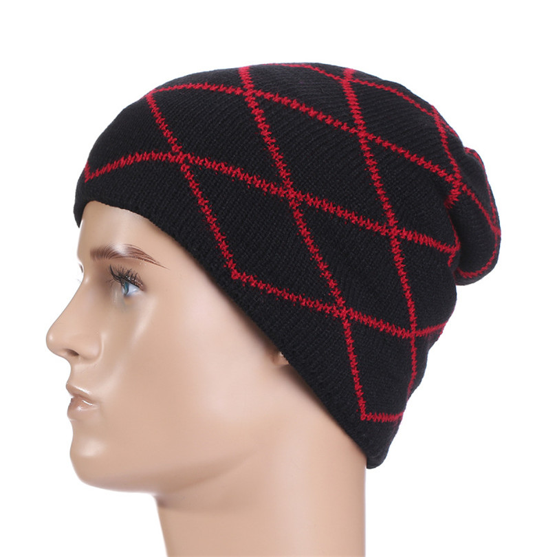 New Fashion Men Beanies Autumn Winter Knitted Women Caps Warm Skullies Elastic Solid Hip-hop Snap Slouch Bonnet Hat Gorro M052