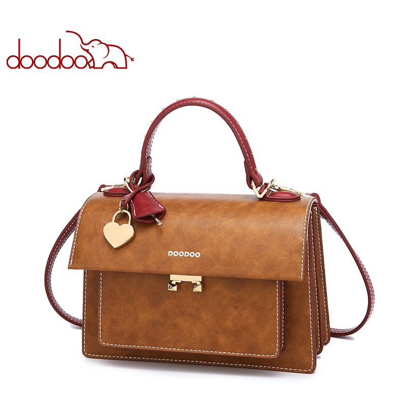 Doodoo New Women Shoulder Bag Luxury Handbags Womens Bags Design High Quality Leather Crossbody for Ladies
