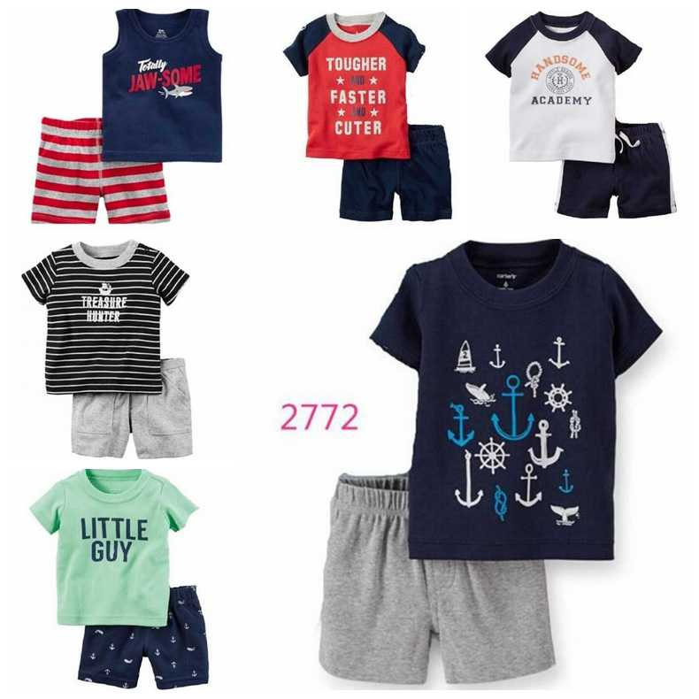Blau Whale Baby Jungen Kleidung Anzug Neugeborenen Kleidung Sets 6 9 12 18 24 Monat T-Shirt Plaid Shorts Hose Outfits sommer Baumwolle Sets