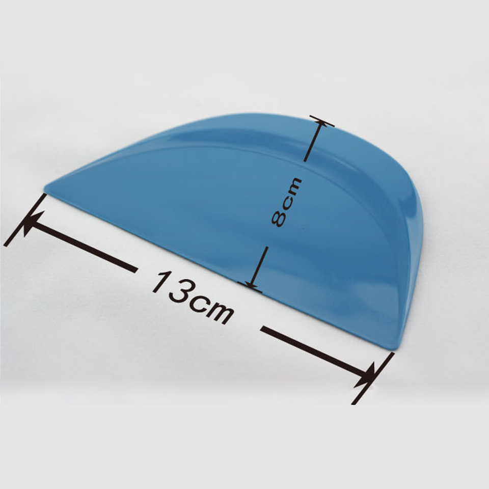 Image 3 - 13*8cm Semicircle Abrasion Resistant Little Foots Blue Hard Cards Squeegee For Car Tuning MO 161-in Car Stickers from Automobiles & Motorcycles