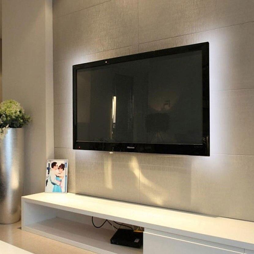 Us 0 76 35 Off 5v Usb Cable Led Strip Light Tv Backlight Lighting 1m 2m 3m 4m 5m Warm Cool White Desktop Screen Decoration Lamp In