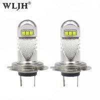 WLJH 2x White H7 Led Bulb 800LM 30W Car Light Daytime Running Light DRL Low Beam