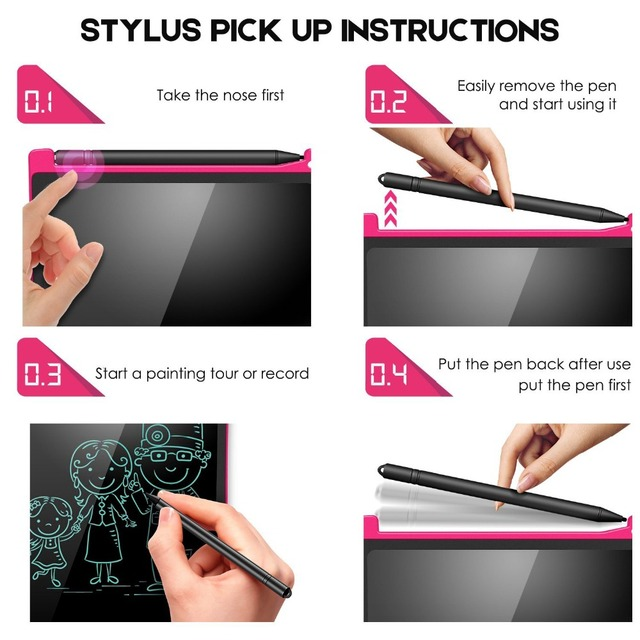 NeWYeS LCD Writing Tablet 12 Inch Electronic Digital Electronic Graphics Drawing Board Doodle Pad with Stylus pen Gift for kids 4