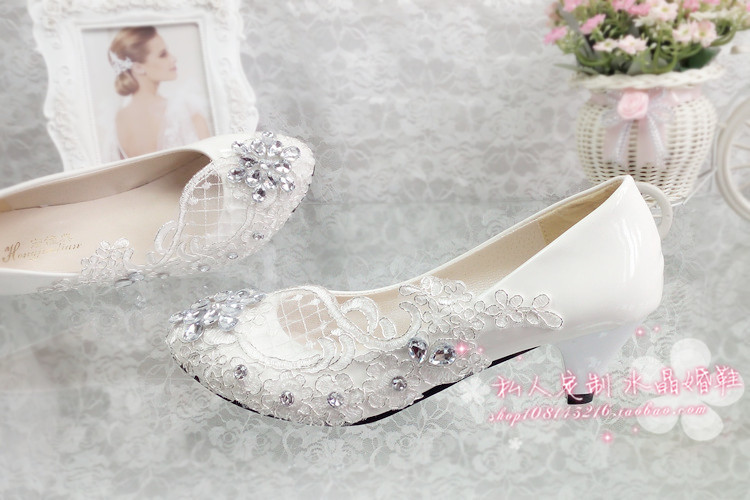 Damigella heel di applique banchetto cristallo grosso scarpe