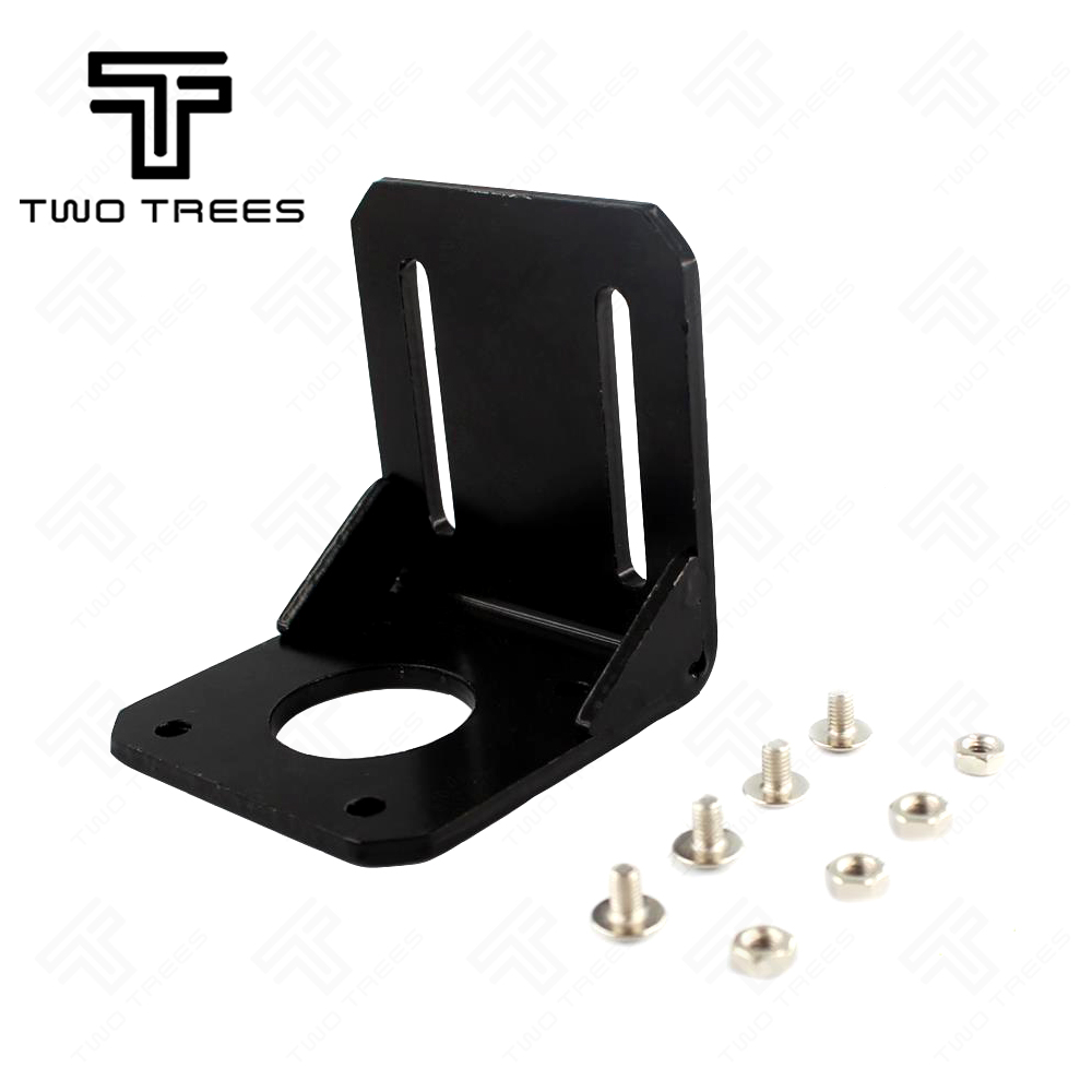 3D Pinter Parts Motor Bracket NEMA 17 Alloy Steel Mounting L Bracket Mount Step Stepping 42 motor bracket with Screws Black motor bracket kicker 25hp mount stainless steel heavy duty outboard motor bracket boat yacht