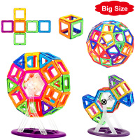 72 110PCS Big Size Magnetic Designer Magnet Building Blocks Construction Toys Set Magnet Educational Toys For Children Gifts