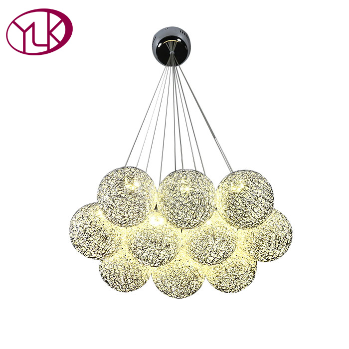 Silver Aluminum Ball LED Pendant Light For Living Room Creative Design Home Decoration Hanging Lamp Dining Room Lighting Fixture padaungy mid waist robin jeans straight denim pants slim fit jean homme plus size high stretch pantalons men trousers jeggings