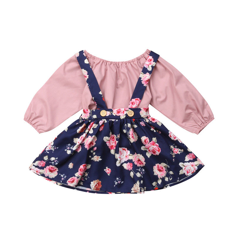Boutique Kids Baby Girl Romper Suspender Ruffle Tutu Skirt Dress Outfits Clothes