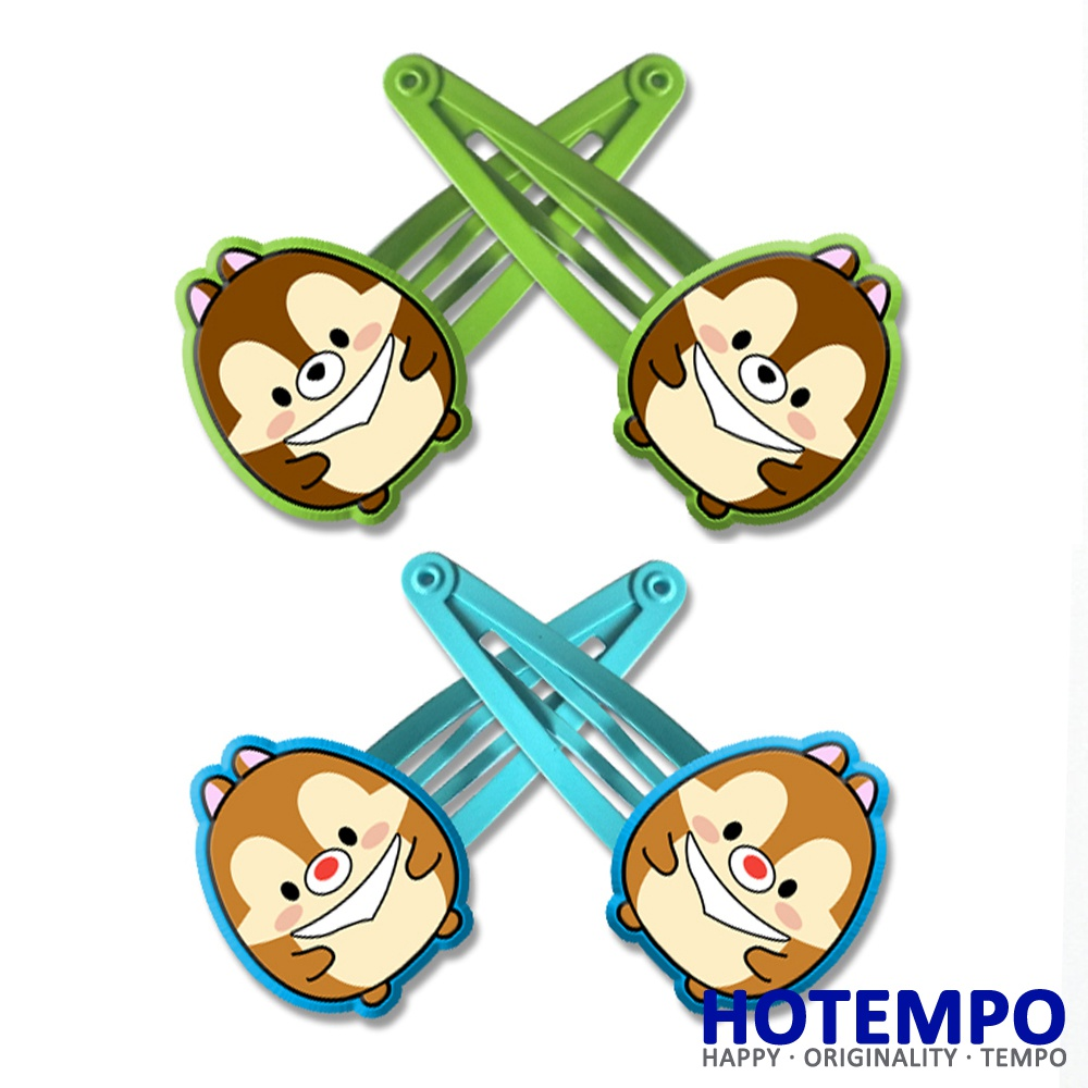 Cute Tsum Cartoon Chip and Dale Multicolor PVC Chipmunk Action Figure beauty toy for girls Hair accessories gift Hair Clip