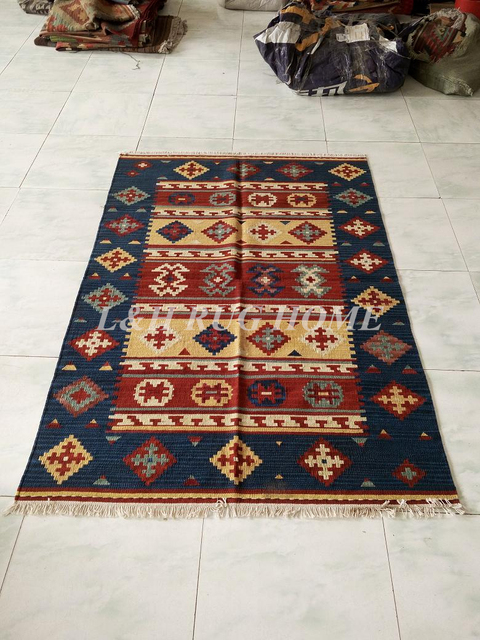 Free Shipping 5 6 X7 Kilim Carpets Hand Knotted Woolen Kelim Rugs