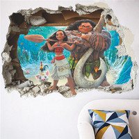 Moana-Vaiana-3d-Effect-Wall-Sticker-2