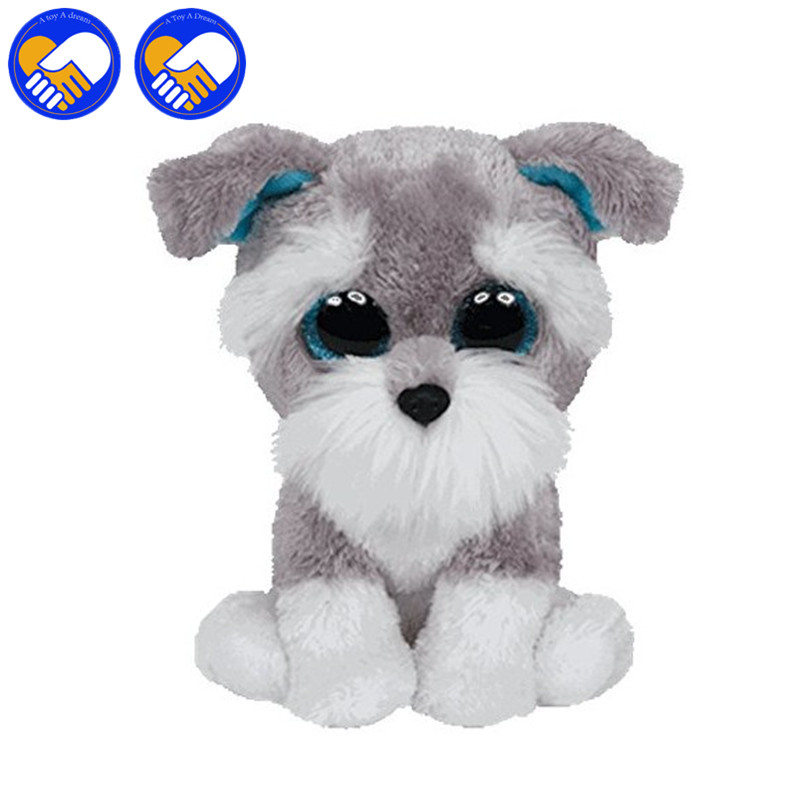 где купить A TOY A DREAM Beanie Boo Kids Plush Dolls Toys Big Eyes Long beard Dog Lovely Gifts Kawaii Stuffed Animals Dolls Cute Gifts Toy по лучшей цене