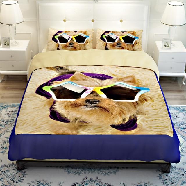 Nice Hot Sale 3D Lovely Dog Pet Design Twin Queen Bedding Bed Sheet Set  Bedclothes Duvet Cover