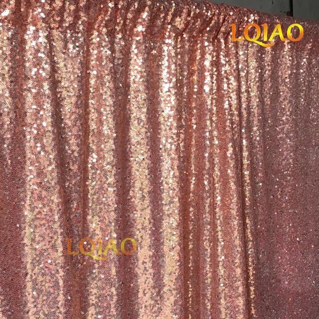 Aliexpresscom Buy 20ftx10ft Glitter Rose Gold Sequin Fabric