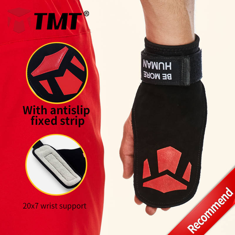 TMT 3 style Double Rawhide Antislip strips Widened lengthened wrist support Weight Lifting Training Wrist Brace Hand Protection