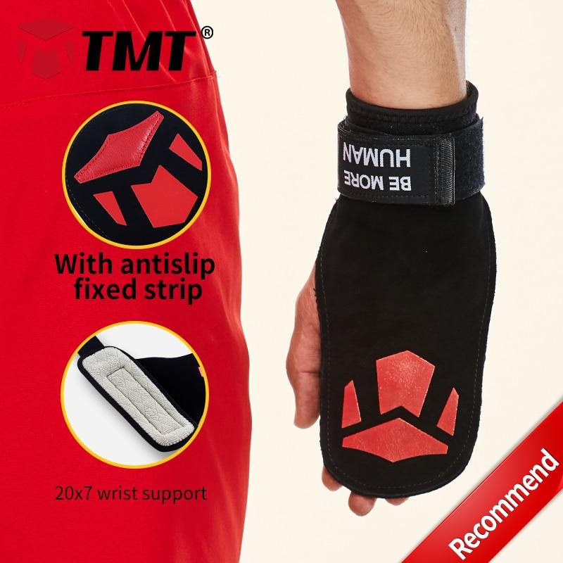 TMT 3 styl Double Rawhide Protisluneční pásky Rozšířená prodloužená podpěra na zápěstí Tažení na zvedání těla Koleno na zápěstí Ochrana rukou