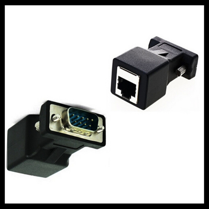 DB9 Male/Female to RJ45 Female DB9 to RJ45 Adapter Connector rs232 modular cab-9as-fdte to rj45 db9 for Computer new arrival db9 rs232 male female to rj45 female adapter com port to lan ethernet port converter