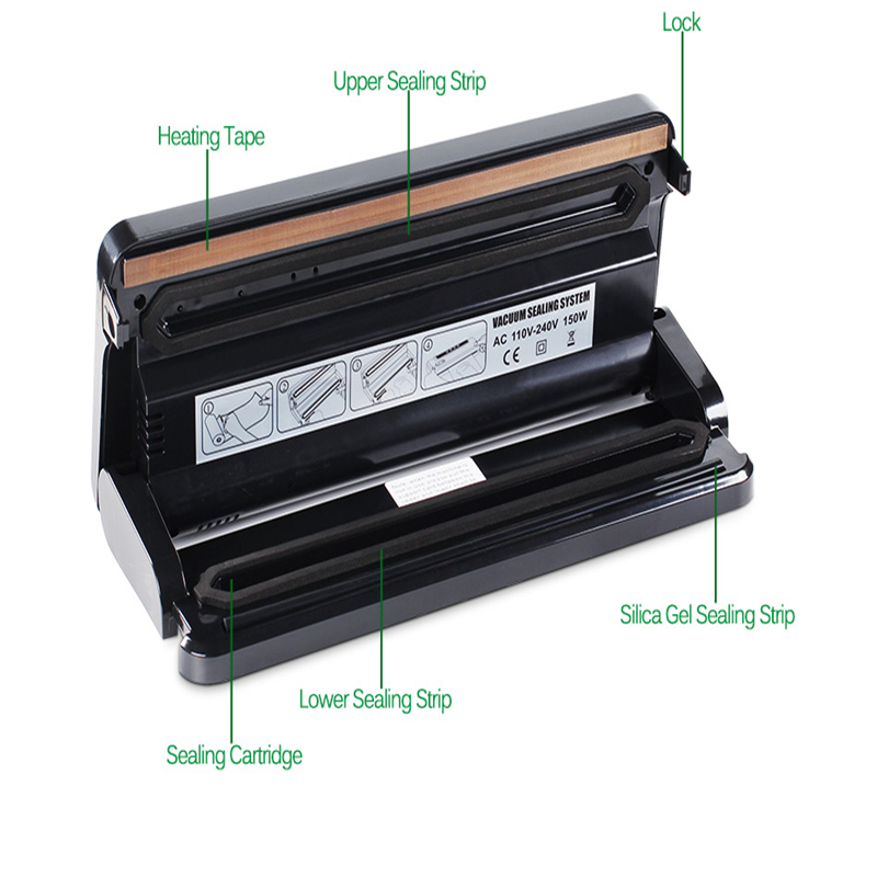 Image 4 - Household Multi functional Vacuum Food Sealer Automatic Vacuum Packer Vacuum Packing Machine with 10pcs of  Bags Food Saver-in Vacuum Food Sealers from Home Appliances