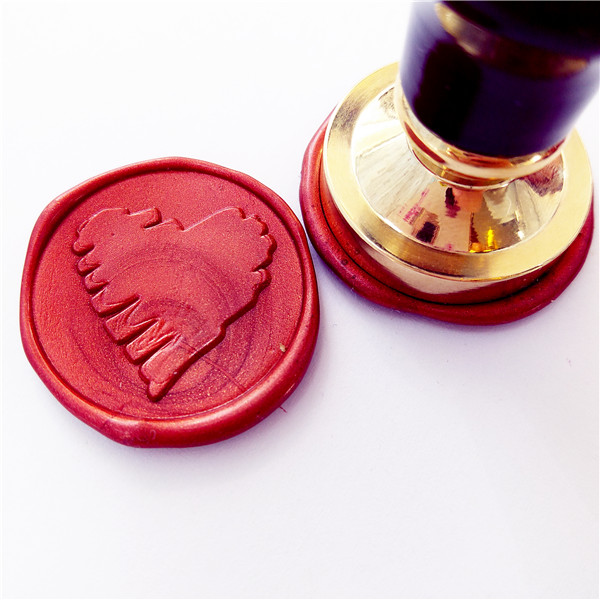 1pcs love heart Gold Plated Wax Seal Stamp  Custom Wedding Invitation Wax Seal Kit Flower elegant flower lace lacut cut wedding invitations set blank ppaer printing invitation cards kit casamento convite pocket