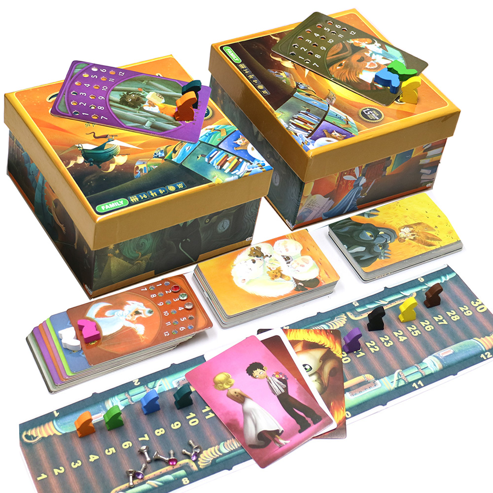 Inglês versão dixit 1 2 3 4 5 6 7 8 jogo de tabuleiro de madeira coelho brinquedos educativos crianças para casa festa fun game cards