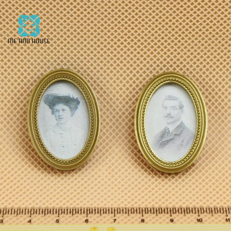 Me and House Doll House Miniature Vintage 19th century fresco mini frame picture