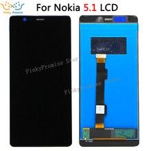 """5.5 """"עבור Nokia 5.1 5 (2018) TA 1061 TA 1075 TA 1076 TA 1081 TA 1088 LCD תצוגה + מסך מגע digitizer עצרת שחור עם ערכה"""