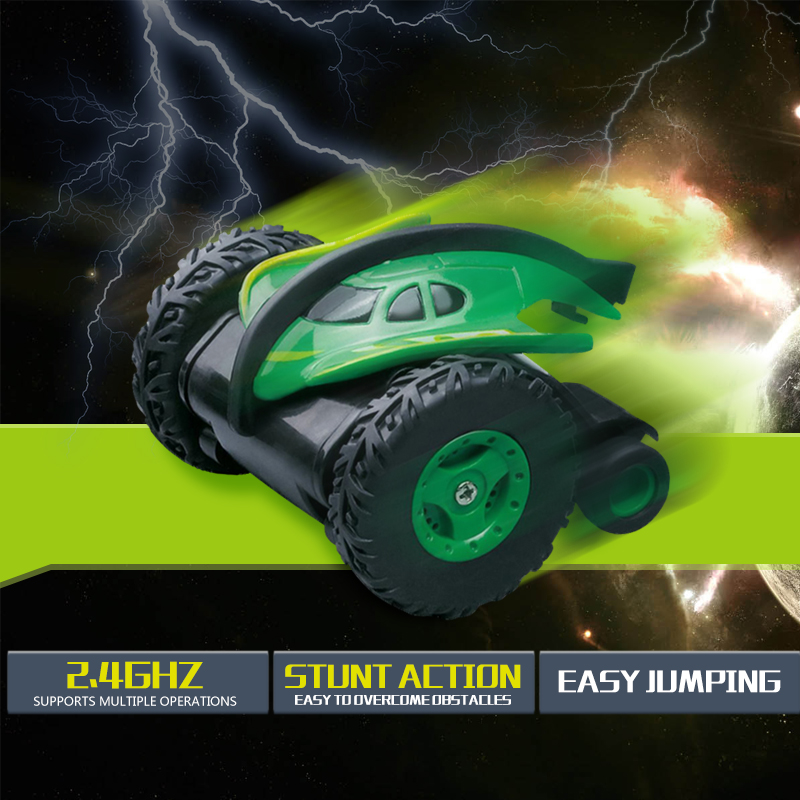 Rc Car Devil Fish Mini Stunt Car Dump Jumping Sumo Truck Remote Control Car Jump Off-Road Climbing Anti-Skid ChildrenS Toys