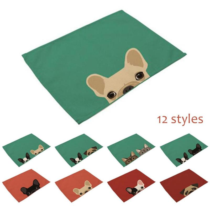 New 1Pc Europe Style Dining Table Placemat Tableware Pad Coaster Coffee Tea Place Mat Kitchen Tools Cotton Linen Table Mat A30