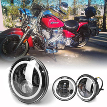 Pair 4.5 inch LED Fog lamp with DRL fit for Harley+7 Headlight High beam 40W Angel eyes for 1987-1997 Patrol GR(Y60) etc. 7 inch led headlight with white white amber angel eyes high beam 60w daymaker lamp