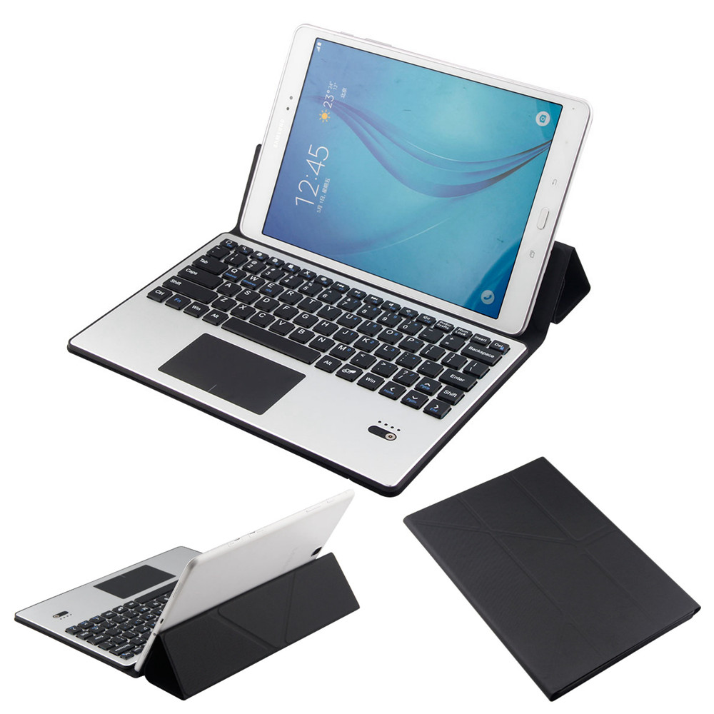 PU Leather Protective Shell Case Stand Cover Detachable Bluetooth Touchpad Keyboard For Samsung Galaxy Tab A