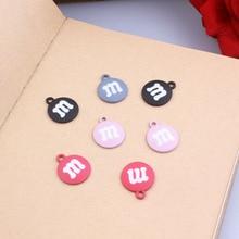10pcs/lot Popular Enamel Charms Bracelets DIY Alloy Chocolate Beans Design Pendant For Earring Jewelry Accessories YZ297
