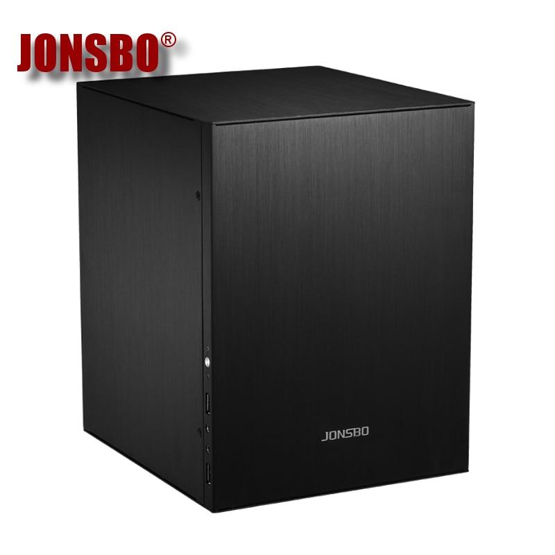 Jonsbo C2 C2S Desktop Mini PC Case Computer Chassis IN Aluminum Alloy HTPC Case USB 3.0 High Quilty Hot Sale Black