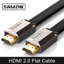 SAMZHE Flat 4K*2K HDMI Cable Resolution 3840*2160/60hz Version 2. 0 for Laptop Xbox to Projector TV Screen and Big Screen